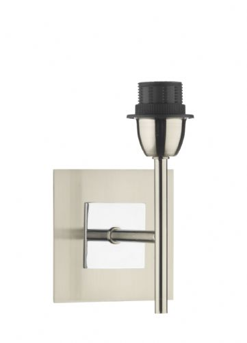 Dar Sicily Wall Bracket Base Only Satin Chrome Polished Chrome Mix SIC0746